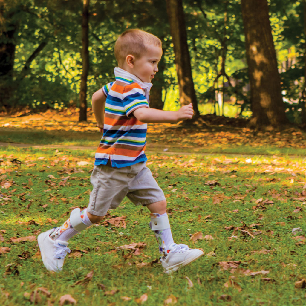 Child Running With AFO Braces